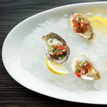 Kumamoto Oysters on the Half Shell with a Cucumber and Winter-melon Granita